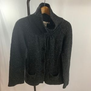 Chunky Knit Sweater Charcoal Gray